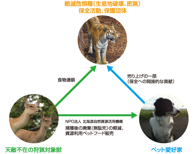 Save Tiger with deer & dogs